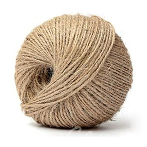 Jute Twine - TOOGOO(R) 80M 3Ply Hessian Rustic Burlap Twisted Jute Twine String Hanging Wedding Decor (Burlap String Twisted)
