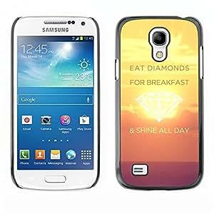 TECHCASE**Cubierta de la caja de protección la piel dura para el ** Samsung Galaxy S4 Mini i9190 MINI VERSION! ** Shine Day Diamonds Sunset Yellow Inspiring