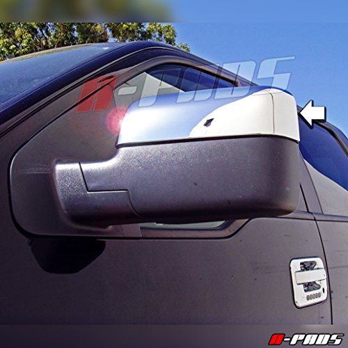 A-PADS Chrome Mirror Covers for Ford F150 2004-2008 - Top Half Chromed Mirrors PAIR