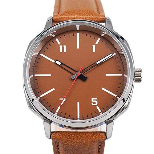BEWITCHYU Practical Wristwatches Pu Belt Watch Men 's Casual Business Quartz Watch Watch Wrist Watches Men' s Watch Fashion Mesh Band Casual Decorative Watch BraceletOrange