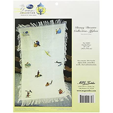 M C G Textiles 29 X 45 Inch Disney Dreams Collection Afghan Counted Cross Stitch Kit By M C G Textiles