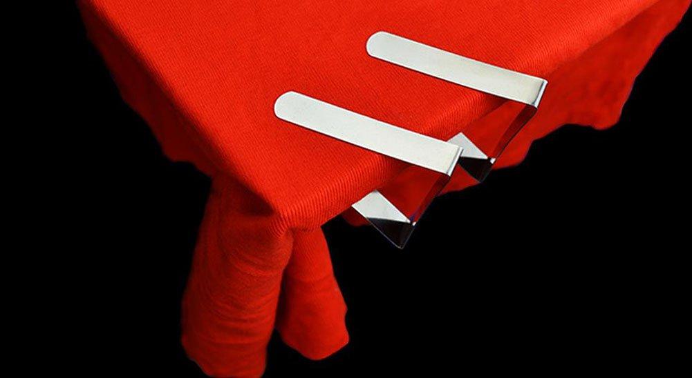 6/x da WA mantel funda para mesa de acero inoxidable Clips Pinzas Soportes para primavera Cargado gamuza de mesa