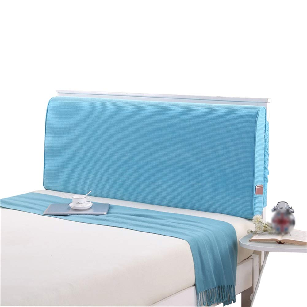 HAIPENG Rückenlehne Bett Kissen Polster Ohne Kopfteil Gepolstert Lendenwirbel Pads, 5 Farben, 4 Größen (Farbe   Blau, größe   120x10x60cm)