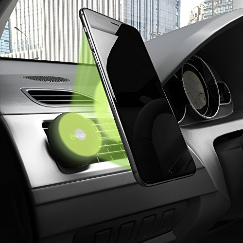Car Mount, Mengo Magna-Snap Mini Magnetic Air Vent Car Mount for Smartphones (iPhone, Samsung, HTC, LG, Nokia, & More), Mp3 Players, and GPS Devices - Retail Packaging