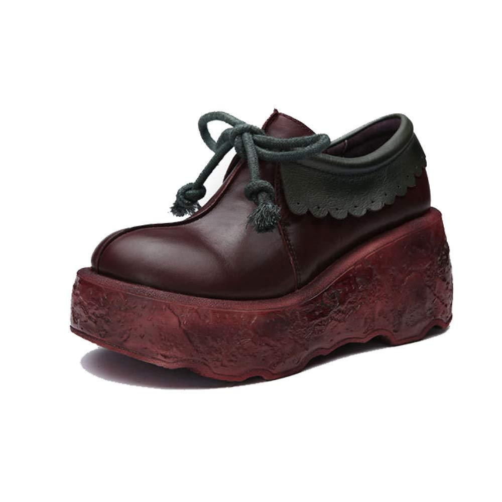 ZPEDY B00MY4MVGQ Pompon, Chaussures Femme, Casual, Confortable, Dentelle, Tendance, ZPEDY Retro, Pompon, Portable Winered 0043b6f - boatplans.space