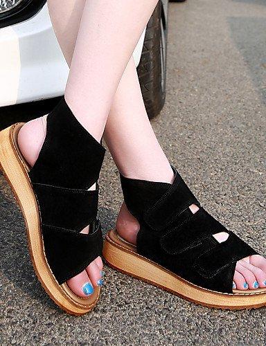 ShangYi Womens Shoes Platform Platform/Comfort/Open Toe Sandals Casual Black/Beige Black