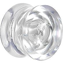 "9/16"" Clear Acrylic Floating Iridescent Rose Plug (1 Piece)"