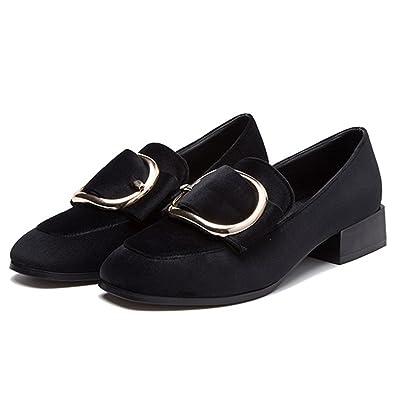 Suède Boucle De Bout Carré Chaussures Plates 6yG98mL