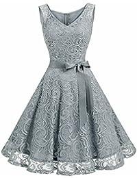 Women Floral Lace Bridesmaid Party Dress Short Prom Dress...