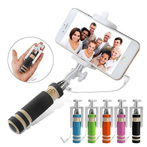 - I-Sonite (Black) Universal Adjustable Mini Selfie Camera Stick Pocket Sized Monopod Built-in Remote Shutter For Xiaomi Mi 8 Explorer