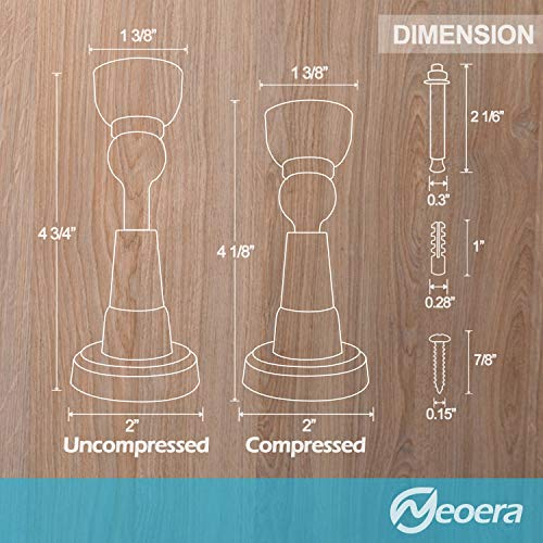 Neoera Magnetic Door Stopper, Updated Spring Shock Absorbent Technology, Soft-Catch Magnetic Hold, Premium 201 Stainless Steel, Anti-Rust, Heavy Duty for Various Door Types, Wall Mount 1Pack