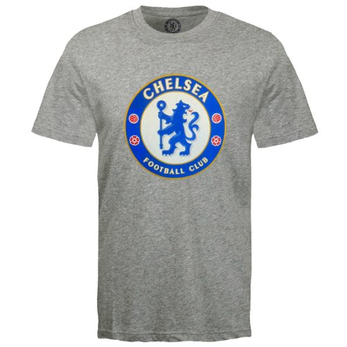 Chelsea FC Official Football Mens Crest T-Shirt Grey XL Soccer Gift