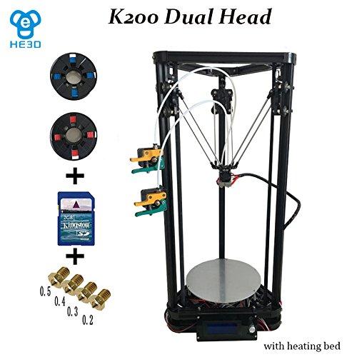 HE3D K200 Dual Delta 3D DIY Printer - 200 x 200 x 280 mm