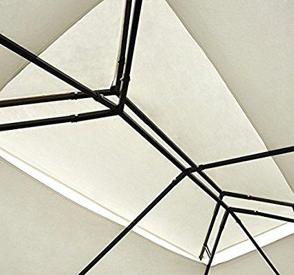 HOMCOM Outsunny Techo de reemplazo para estructura de carpa medidas, medida 3x3 metros, color crema: Amazon.es: Jardín