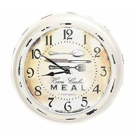 Reloj de pared de resina con impresión antigua. 00077 relojes Paredes Cocina: Amazon.es: Hogar