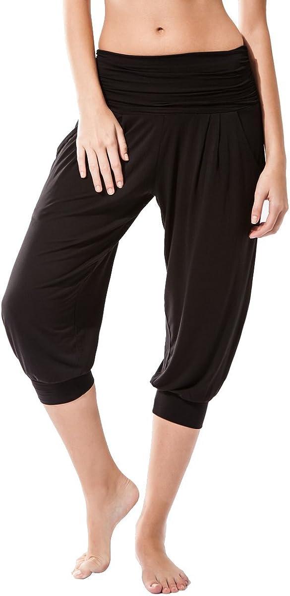 Sternitz Pantalon Fitness para Mujer, Rabi, Ideal para Hacer Pilates, Yoga y Cualquier Deporte, Tela de bambú, ecológica y Suave. Pantalón Tipo Pescador o Bombacho. Muy Cómodo
