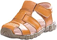 Happy Cherry Baby Boy's Girl's Toddler Cow Leather Non-Slip Closed Toe Soft Sole Casual Sandal Sho