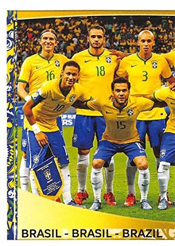 2016 Panini Copa America Centenario Soccer Sticker #111 Brazil Team Photo 1 2 Inch wide X 3 inch tall album sticker
