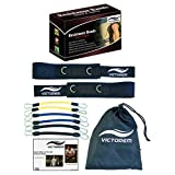 Victorem Speed and Strength Leg Resistance Band Set - 130 LB Resistance- Iron Connecting Clips - Soft Connecting Velcro Cuffs- Extremely Strong and Durable Resistance Band Set!