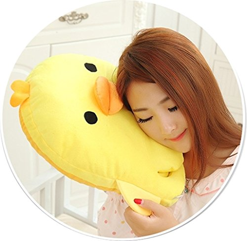 Just_for you USB Heating Slippers Cotton Fabric, Cute Cartoon Slippers For Adult, Kids, Teenage. (Yellow Duck)