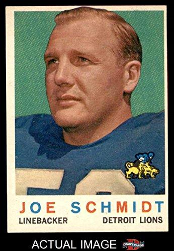 Joe Schmidt Detroit Lions - 1959 Topps # 6 Joe Schmidt Detroit Lions (Football Card) Dean's Cards 5 - EX Lions