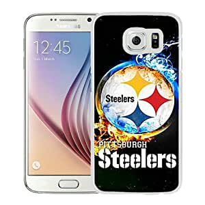 Popular Samsung Galaxy S6 Case ,Beautiful And Unique Designed With Pittsburgh Steelers 2 White Samsung Galaxy S6 Cover