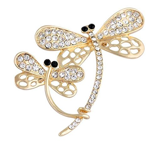 - Hosaire Brooch Pin Dragonfly Scarf Pin Rhinestones Breastpin for Wedding/Banquet/Bouquet