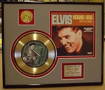 Amazon Com Elvis Presley Quot Hound Dog Quot Framed 24kt Gold