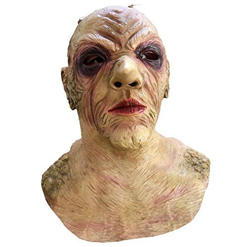 Dhakar Scary Clown Mask Joker Cosplay Horror Mask Costume Latex Mask (yellow) -