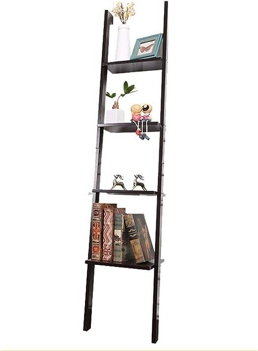 Estanteria For estar Cocina Oficina Escalera Estante de 4 niveles estante estante estante de la pared inclinada Conveniente para el hogar, cafetería y oficina (Color : Black , Size : 160x34x31cm) : Amazon.es: Hogar