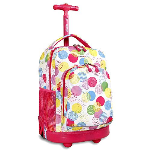 J World New York Sunny Rolling Backpack, Speckle, One Size