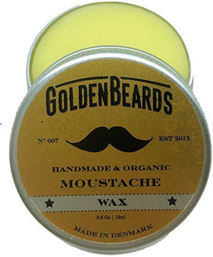 Cera Para Bigote Orgánica y 100x100 Natural – 15 Mililitros Moldea Tu Bigote Con Nuestra Cera Soft/Medium Para Obtener unos Resultados Sorprendentes Golden Beards 007