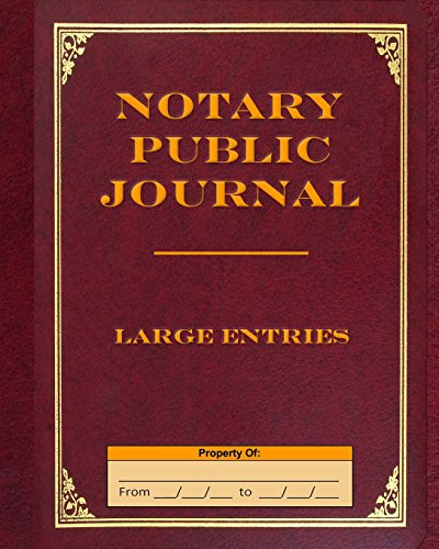 Pdf Money Notary Public Journal Large Entries