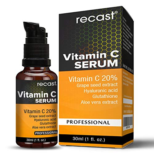 Vitamin C Serum with Hyaluronic Acid and Glutathione For Face From Recast 30Ml (1fl.oz)