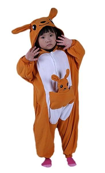 Canguro Cosplay Animales Pijamas Enteros Niño Niña Invierno Novedad Navidad Traje Disfraz