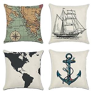 51bgquPTGTL._SS300_ 100+ Nautical Pillows & Nautical Pillow Covers