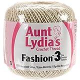 Coats Crochet Aunt Lydia's Fashion Crochet, Cotton Size 3, Natural