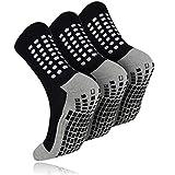 3 Pairs Non Slip Hospital Socks Non Skid Slipper Socks Grippers Sticky Grip Socks for Men Women Elderly