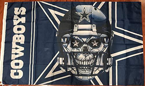 Dallas Cowboys Skull Logo 3' x 5' Flag Banner Football Fan