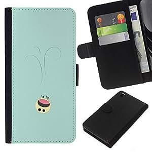 JackGot ( Lindo Smiley ) HTC DESIRE 816 la tarjeta de Crédito Slots PU Funda de cuero Monedero caso cubierta de piel