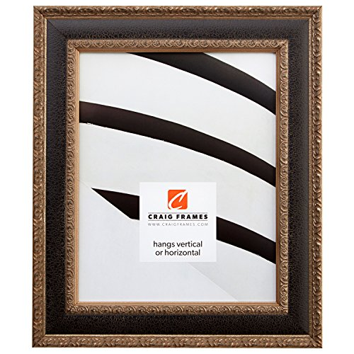 Craig Frames Galerie, Antique Silver and Black Picture Frame, 8 by (Antique Silver Document Frames)