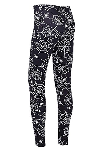 DREAGAL Active Running Pants For Women Black Spiders And Spider Web Leggings X-large