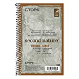 nature notebook - TOPS Second Nature Notebook, Recycled, 5 x 8 Inches, Narrow Rule, 80 Sheets per Book, Green Cover (74108)