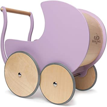 Amazon.com: Kinderfeets - Cochecito de muñecas (madera ...
