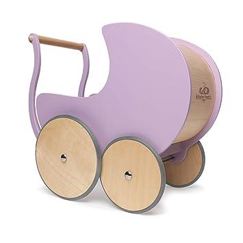 Kinderfeets Wooden Doll Pramwalker Lavender