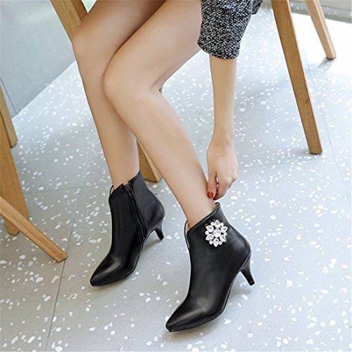 Europa y cortas el otoño vidrio el los de botas señalaron invierno lady Martin astilleros Unidos grandes bien y El estrás Estados black con y botas nCpw0Aqfq