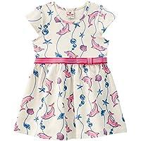 Vestido Infantil Cotton Golfinhos Branco - Brandili