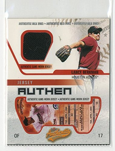 2003 Fleer Authentix Game Jersey #LB Lance Berkman Jersey - NM-MT