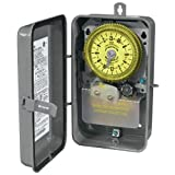 Intermatic T1976R SPDT 24 Hour 208-277-Volt Time Switch with 3R Outdoor Steel Enclosure and Skipper Wheel