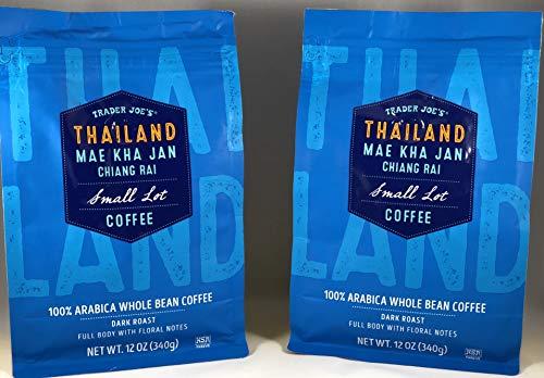 Trader Joe's Thailand, Dark Roast, Whole Bean Coffee - 2 Pack